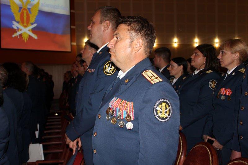 Белгородскому УФСИН вручили символ воинской чести – собственное знамя, фото-4