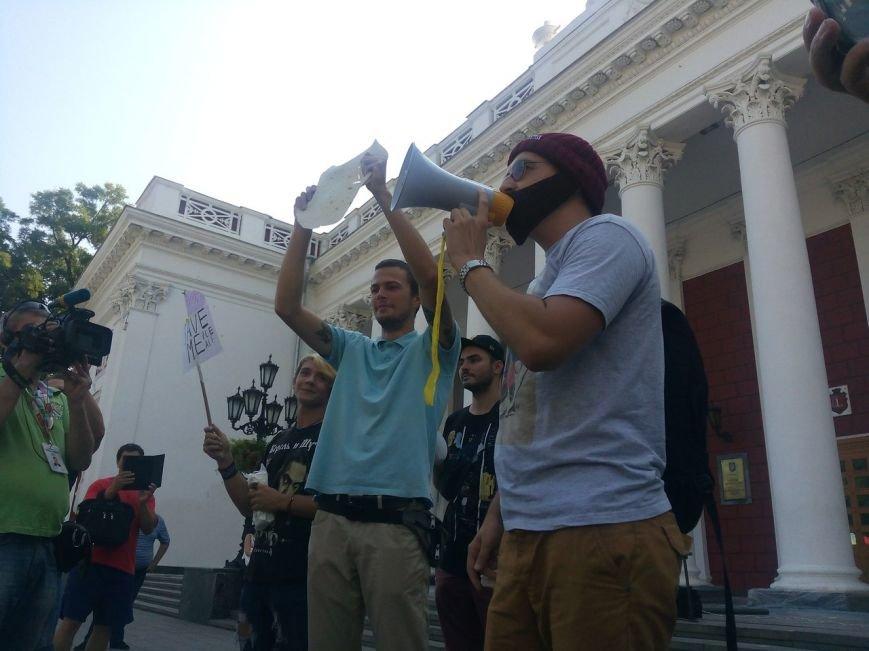 В Одессе активисты едва не закидали мэрию шаурмой (ФОТО, ВИДЕО), фото-10