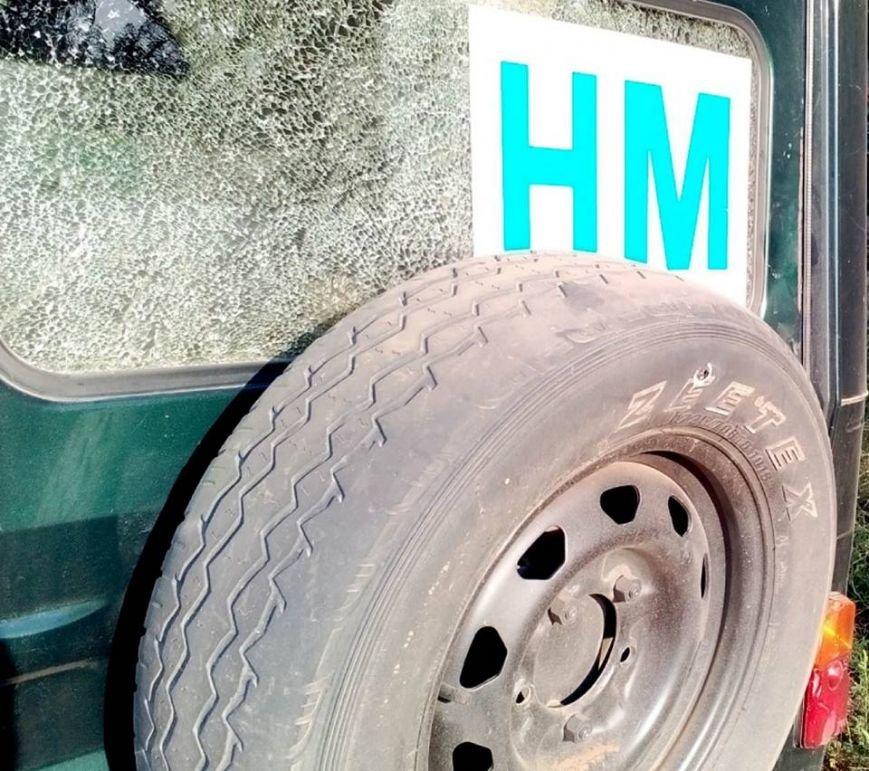 В Донецкой области боевики обстреляли автомобиль наблюдателей СЦКК (ФОТО), фото-2