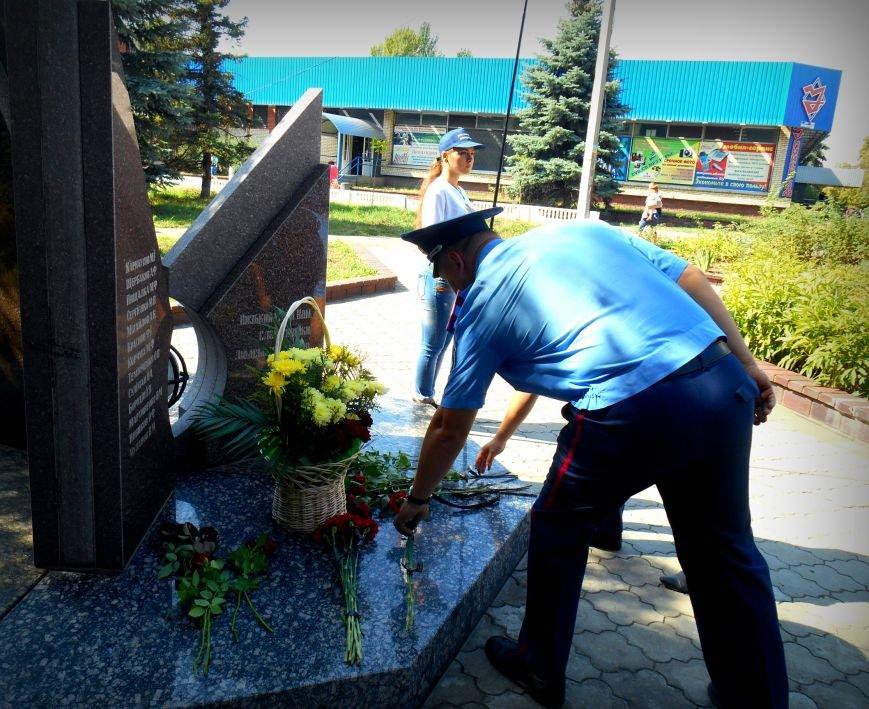 Сьогодні у Слов'янську вшанували пам'ять загиблих співробітників поліції, фото-3