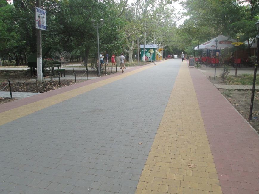 Одесский парк преобразили плиткой (ФОТО), фото-13