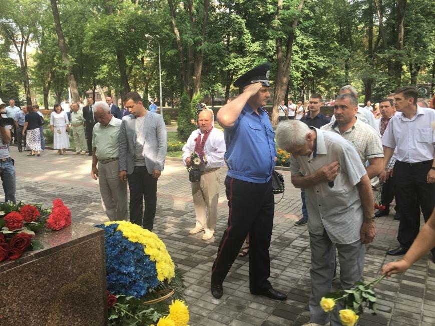 В День Государственного флага в Кривом Роге почтили память бойцов, погибших за Независимость Украины (ФОТО), фото-9