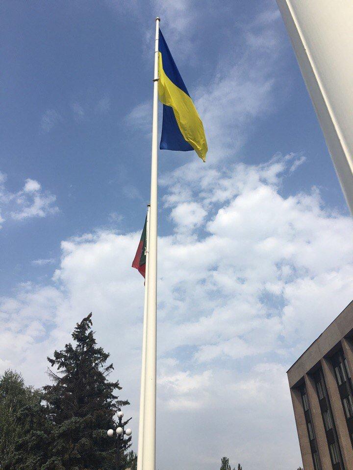 В Кривом Роге торжественно подняли Государственный Флаг Украины (ФОТО), фото-13