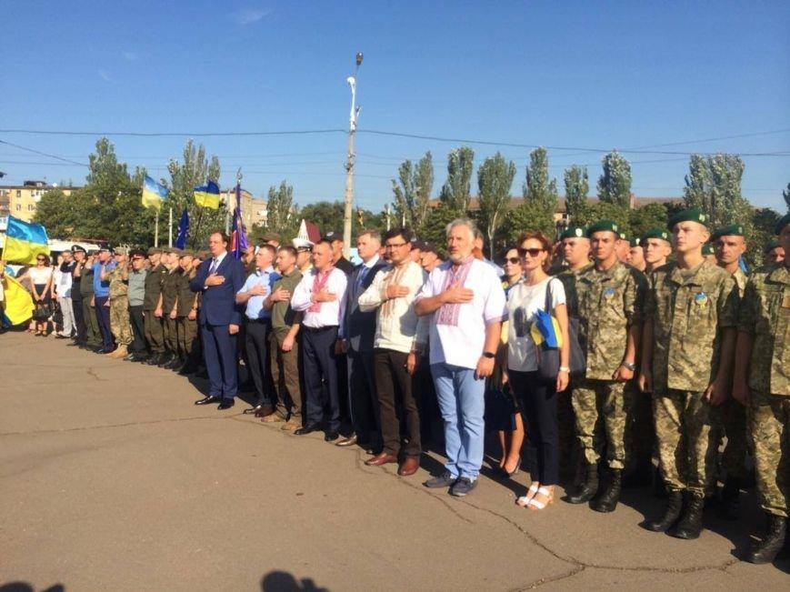 В Мариуполе губернатор поднял Государственный флаг Украины (ФОТО, ВИДЕО), фото-1