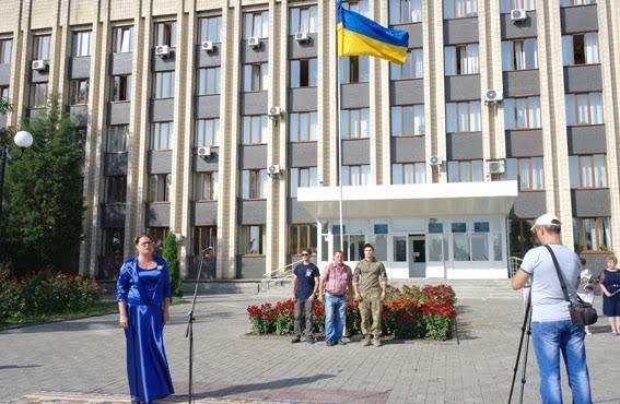 Полицейские всей Донетчины торжественно подняли Государственный флаг (ФОТО), фото-4