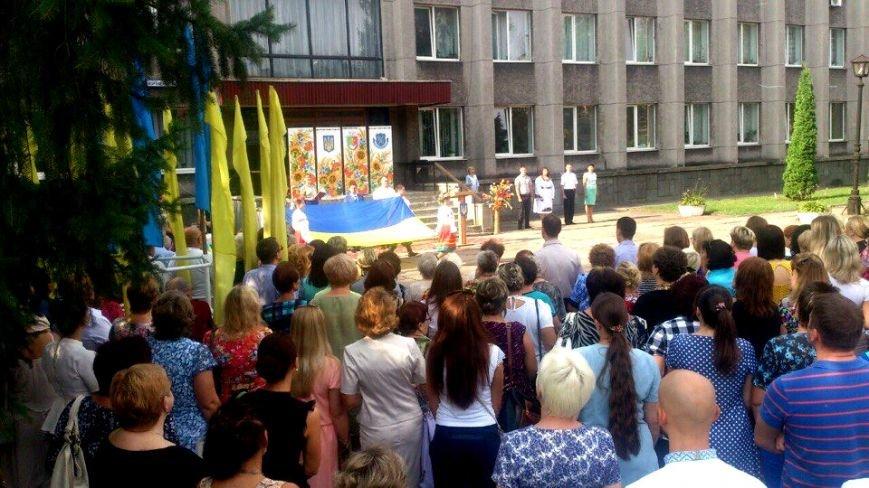 В Терновском районе подняли Флаг Украины: Это наше знамя, окропленное кровью лучших сыновей Украины (ФОТО), фото-6