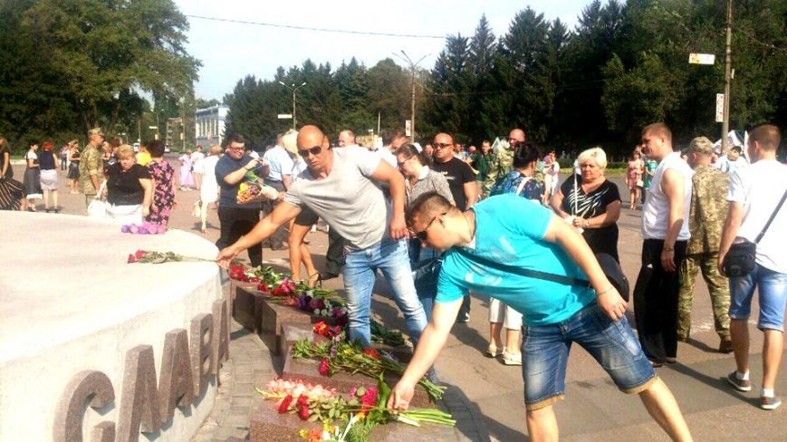 В Терновском районе подняли Флаг Украины: Это наше знамя, окропленное кровью лучших сыновей Украины (ФОТО), фото-13