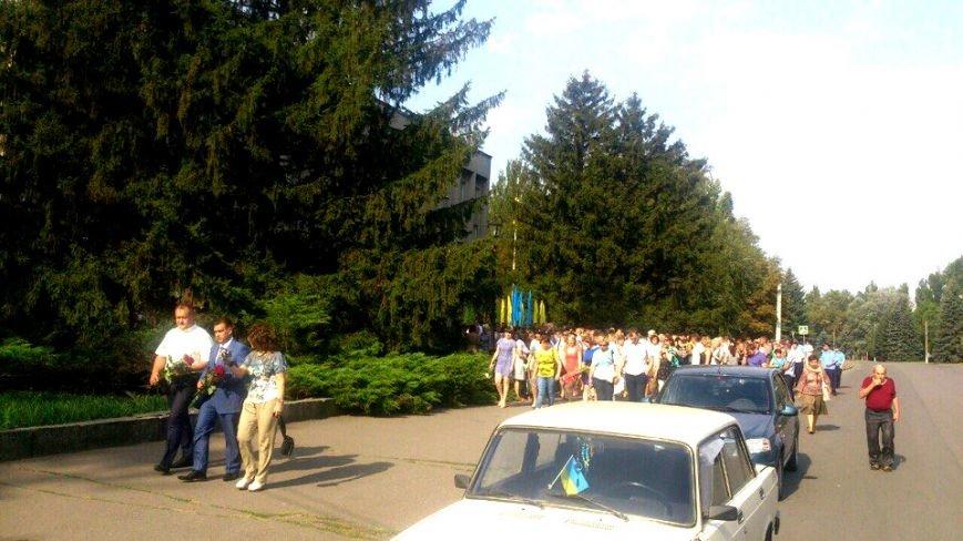 В Терновском районе подняли Флаг Украины: Это наше знамя, окропленное кровью лучших сыновей Украины (ФОТО), фото-8