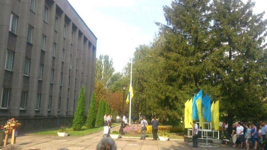 В Терновском районе подняли Флаг Украины: Это наше знамя, окропленное кровью лучших сыновей Украины (ФОТО), фото-2