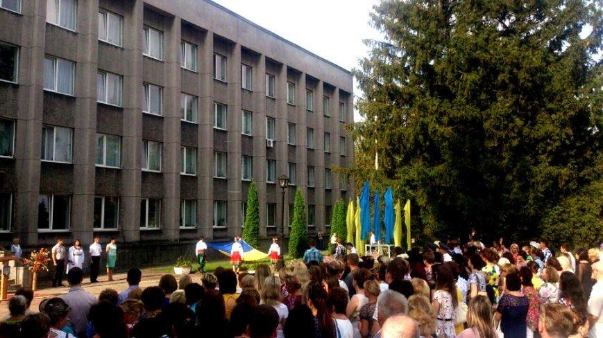 В Терновском районе подняли Флаг Украины: Это наше знамя, окропленное кровью лучших сыновей Украины (ФОТО), фото-4