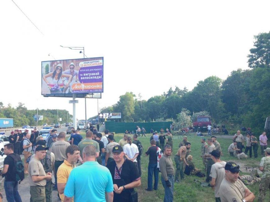 Киевляне снесли забор на месте стройки в Голосеевском лесу (ФОТО, ВИДЕО), фото-3