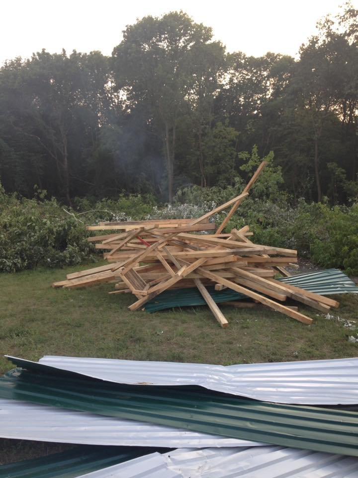 Киевляне снесли забор на месте стройки в Голосеевском лесу (ФОТО, ВИДЕО), фото-4