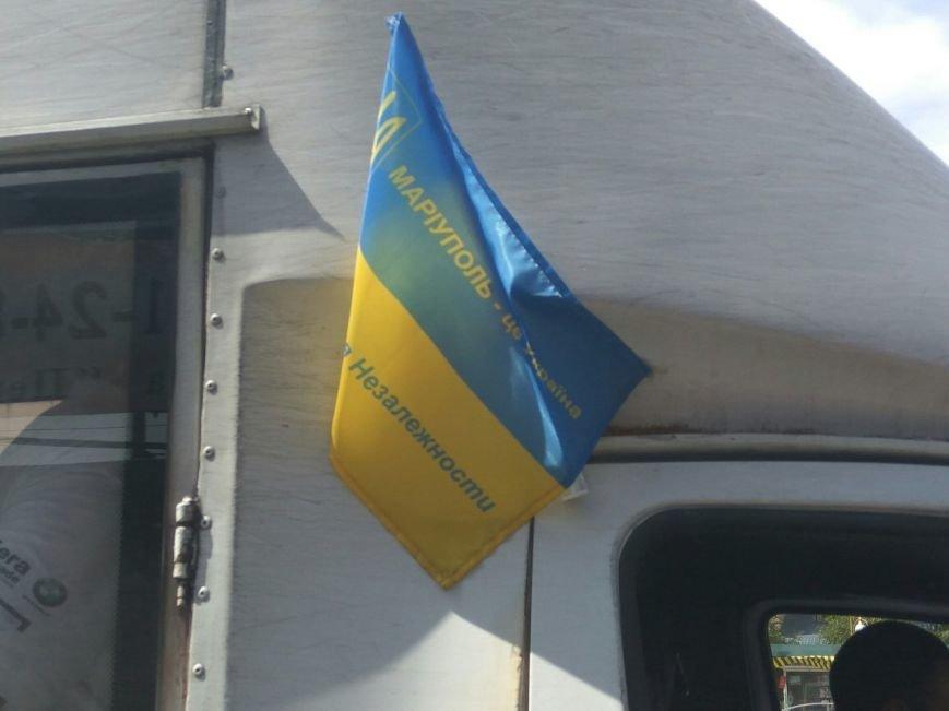 В Мариуполе водителей маршруток не выпускали на линию без флага Украины (ФОТОФАКТ), фото-2