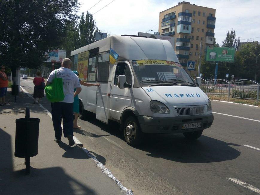 В Мариуполе водителей маршруток не выпускали на линию без флага Украины (ФОТОФАКТ), фото-4