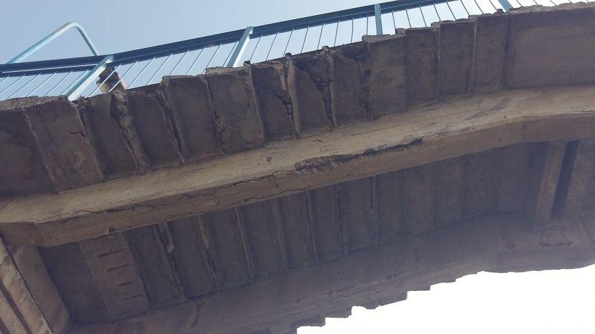 Пешеходный мост в Мелитополе рушится на глазах, фото-7