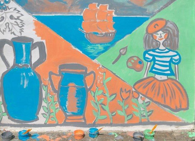 Фестиваль стрит-арта: Артековцы нарисовали свою мечту, фото-1