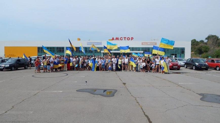 В Бердянске состоялся автопробег по городу, посвященный 25-летию Независимости Украины (ВИДЕО), фото-1