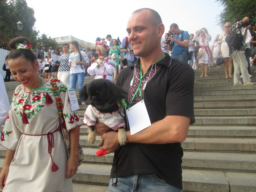В Одессе на Потемкинской лестнице собралось рекордное количество украинцев в вишиванках (ФОТО, ВИДЕО), фото-1