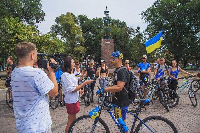Велопробег  в честь Дня независимости Украины состоялся в Бердянске, фото-9