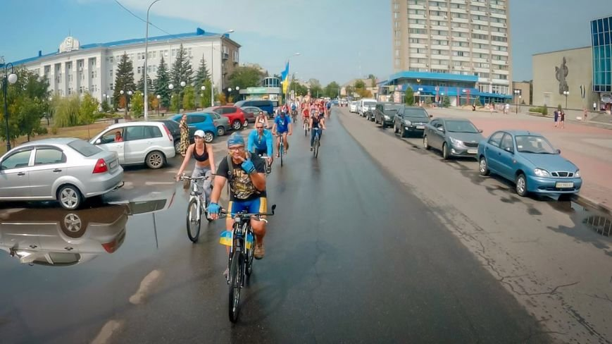 Велопробег  в честь Дня независимости Украины состоялся в Бердянске, фото-10