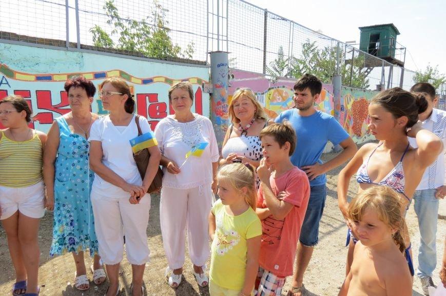В Бердянске на микрорайоне Лиски открыли самый большой мурал в городе, фото-7