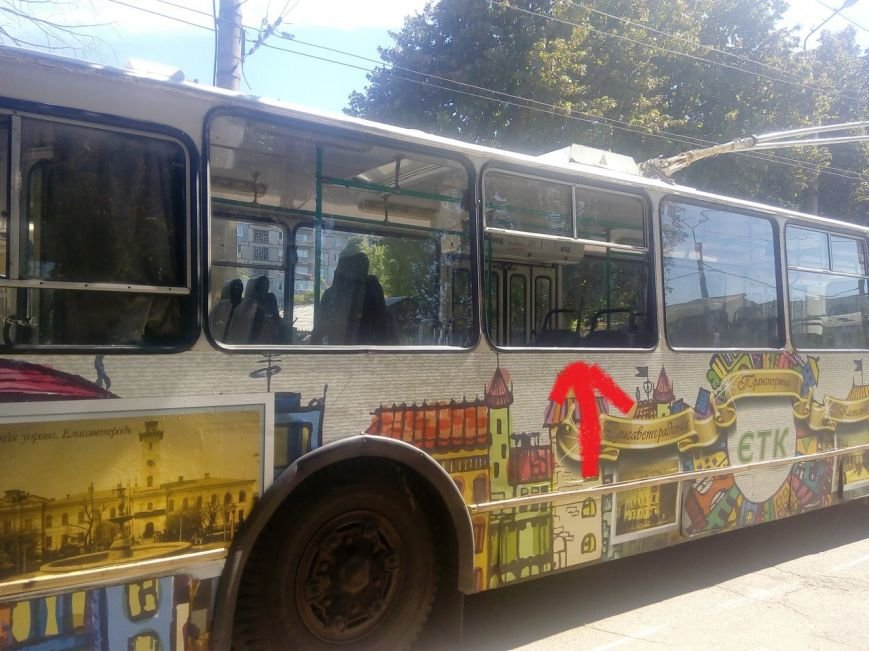 В Кропивницком из пневматического оружия обстреляли троллейбус (ФОТО), фото-1
