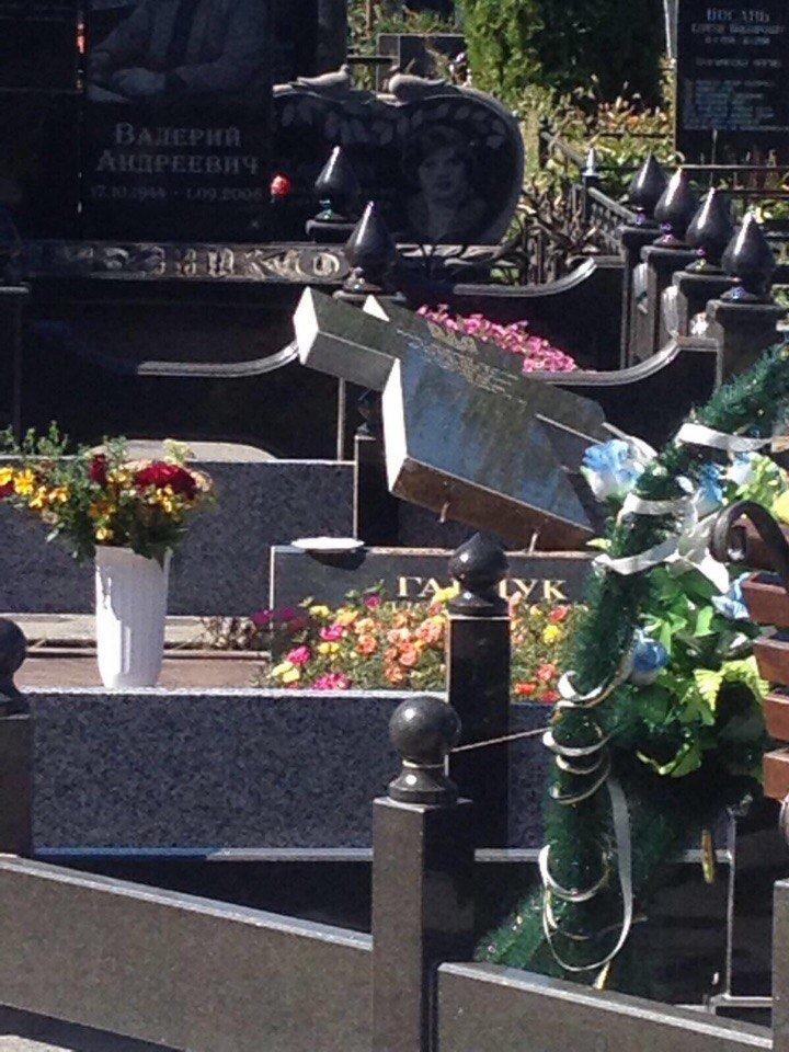 Вандалов, поваливших памятники на могилах бойцов АТО, разыскивают со служебными собаками (ФОТО), фото-1