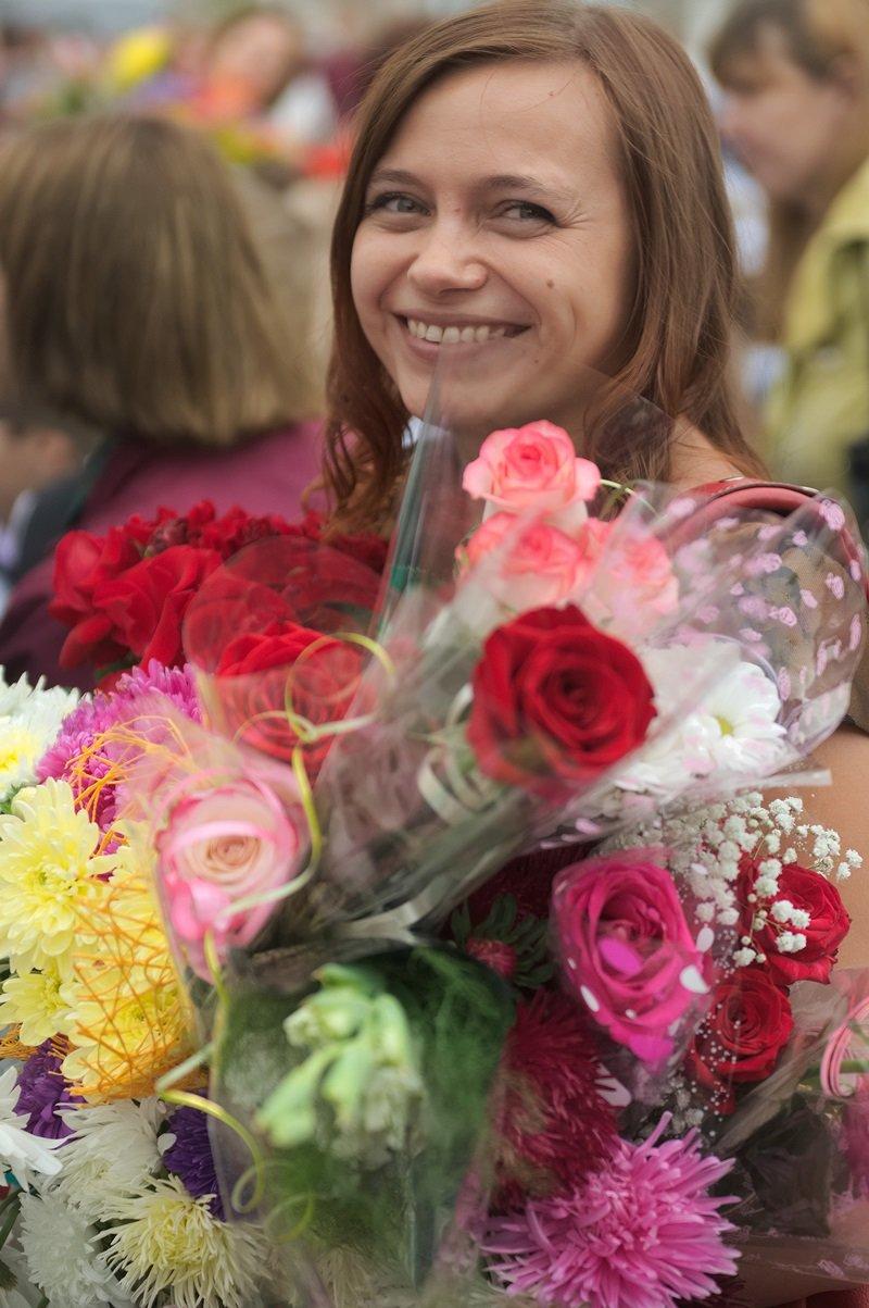Цветы, банты, улыбки, слезы… Как в Полоцке и Новополоцке отметили День знаний, фото-10