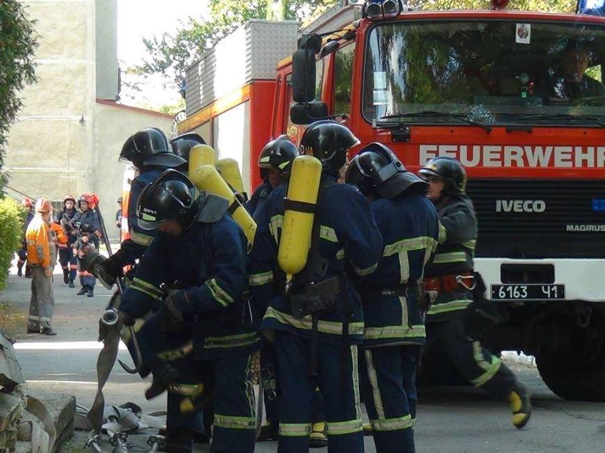 В одній із лікарень міста рятувальники гасили умовну пожежу, фото-3