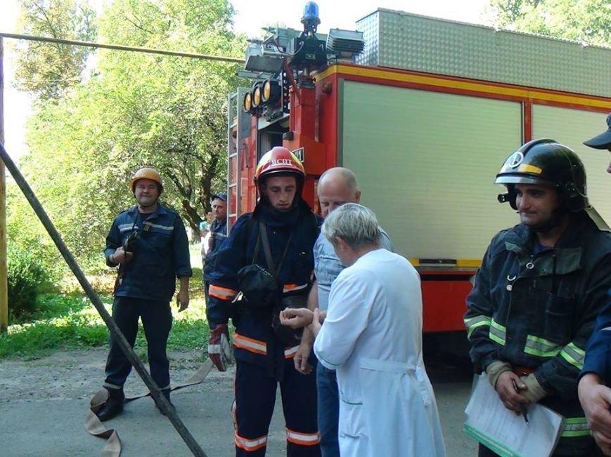 В одній із лікарень міста рятувальники гасили умовну пожежу, фото-4
