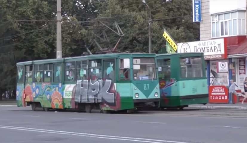 Вандали зробили графіті на конотопських трамваях (+фото та відео), фото-2