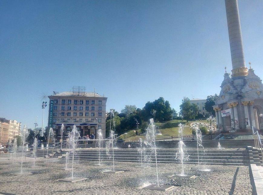 На Майдане открыли каскадный фонтан (ФОТО), фото-1