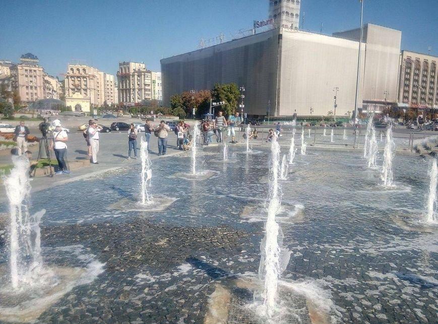 На Майдане открыли каскадный фонтан (ФОТО), фото-4
