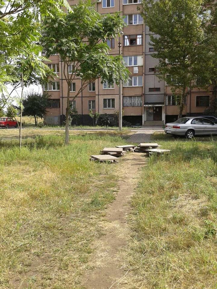 Криворожане за собственные средства уложили три пешеходные дорожки (ФОТО), фото-16