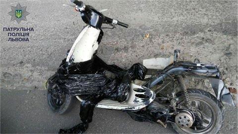 Львівські патрульні затримали підозрюваного в крадіжці мопеду, фото-1