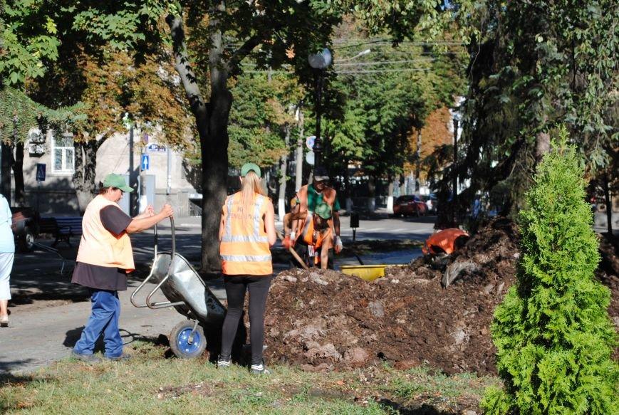 Грибной компост, земля и днепровская вода: в сквере имени Бабаева всерьёз взялись за газон (фото и видео), фото-3