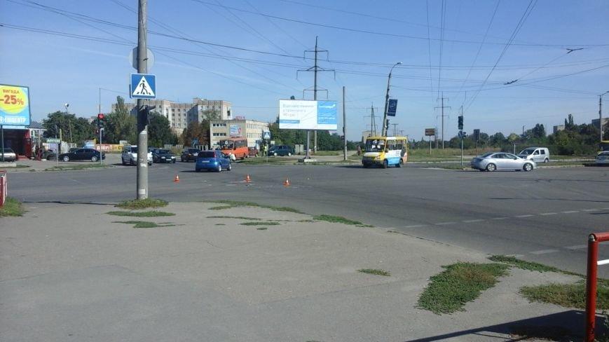 ДТП в Кропивницком: маршрутка врезалась в автомобиль (ФОТО), фото-1
