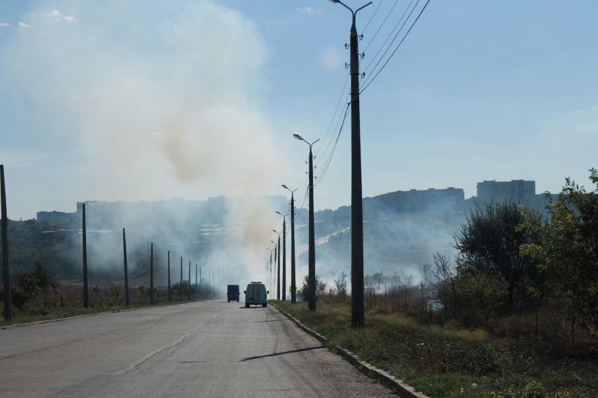 В Краматорске возле балки дым застелил проезжую часть, фото-2