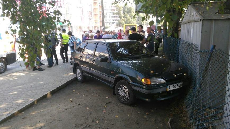 В Івано-Франківську п'яний водій посеред дня збив літню жінку (ФОТО+ВІДЕО), фото-1