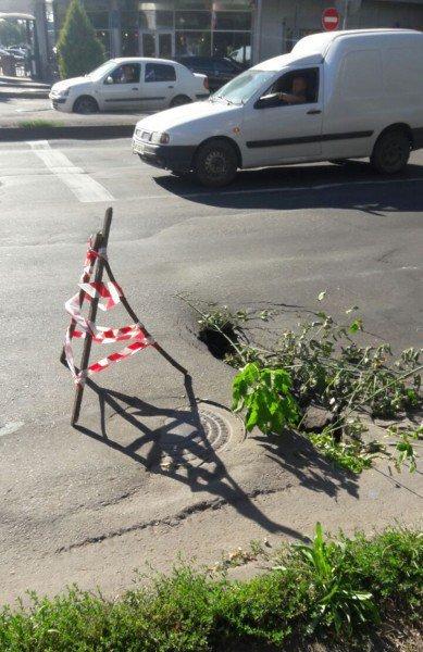 В Кривом Роге на проезжей части провалилось дорожное покрытие (ФОТО), фото-2