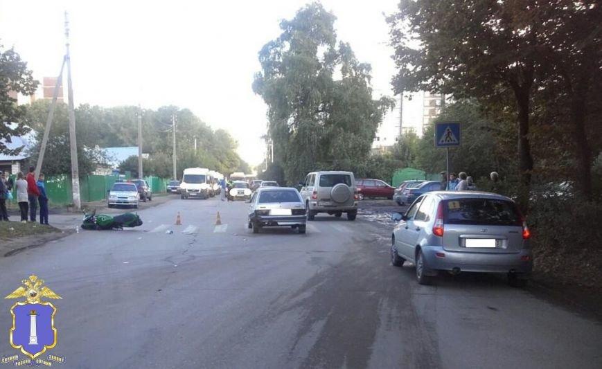 В Ульяновске мотоциклист-нарушитель попал в больницу, фото-1