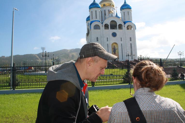 Игорь Шагов проводит мастер-класс на VI Сахалинском международном фестивале «Край света», фото-3
