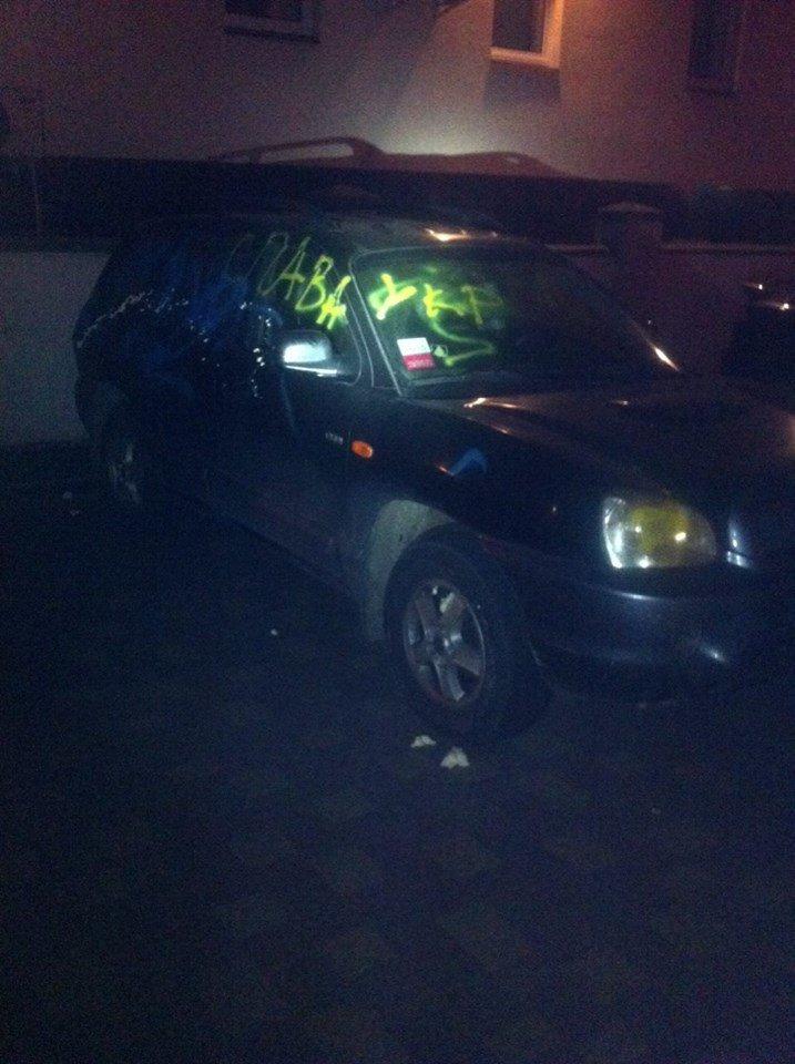 У Львові невідомі розмалювали фарбою автомобіль за георгіївську стрічку у салоні (ФОТО), фото-2