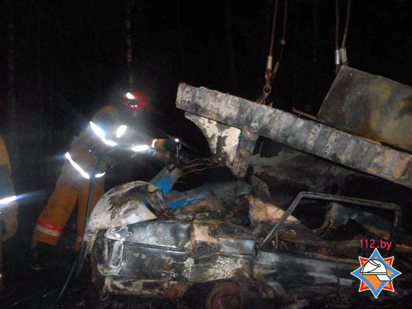 Остановка обрушилась на VW в Бобруйском районе, водитель сгорел заживо, фото-2