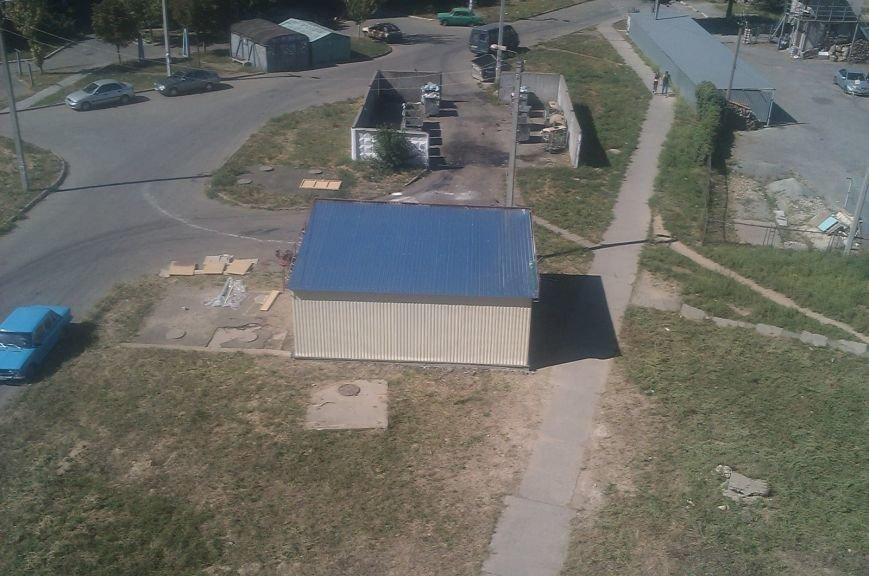 В Кривом Роге на придомовой территории незаконно построили пункт приема вторсырья (ФОТО), фото-1