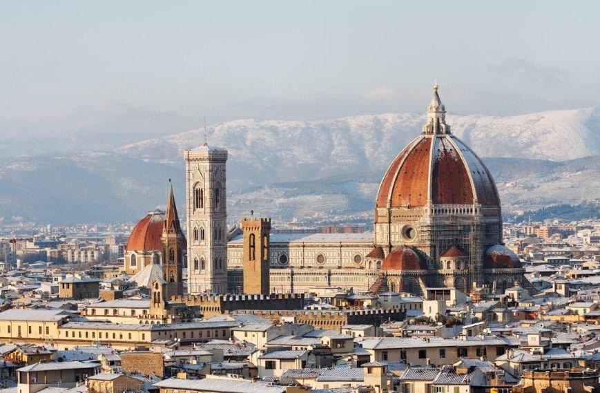 Зимние_виды_Флоренции,_Италия