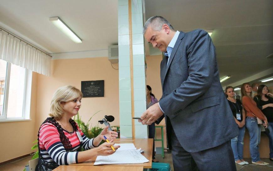Аксенов и Константинов проголосовали на выборах в Госдуму (ФОТО), фото-1