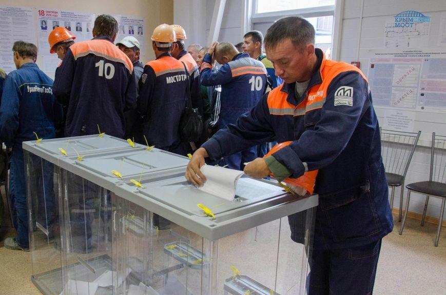 Строители Крымского моста голосуют без отрыва от производства (ФОТО), фото-4