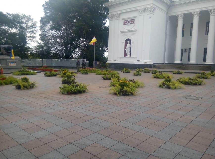 На главной площади Одессы выставка икебан и рабочая приемная народного депутата (ФОТО), фото-2