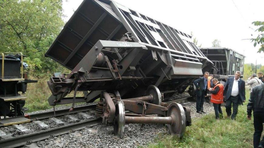 Поблизу Львова один із вагонів вантажного потяга зійшов з колії (ФОТО), фото-1